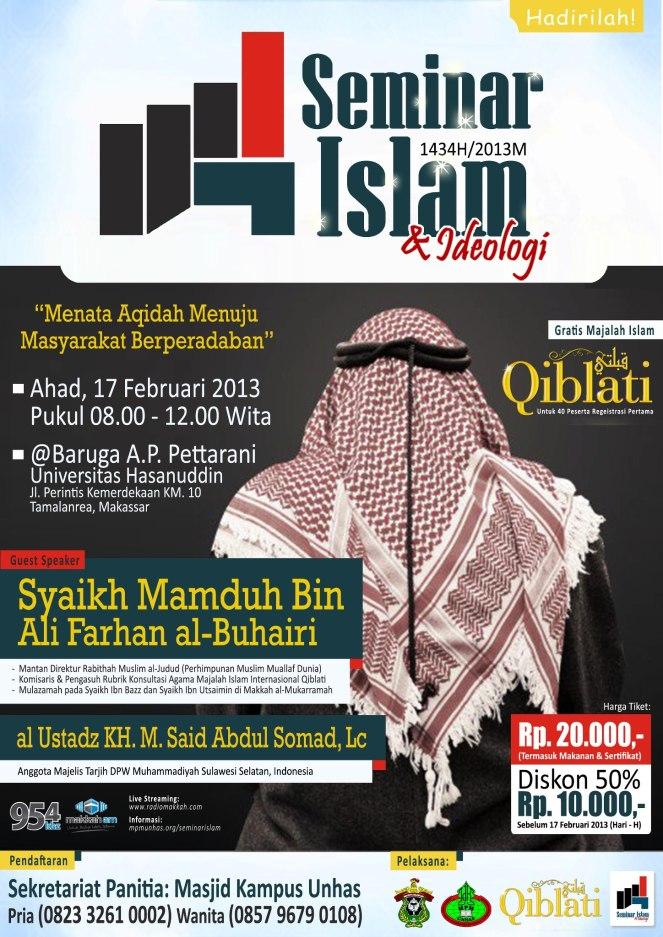 Seminar Islam bersama Syaikh Mamduh Bin Ali Farhan al-Buhairi