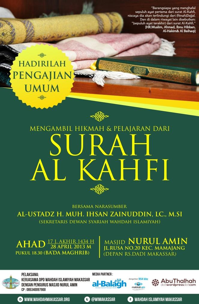 Pengajian Umum Pelajaran Dari Surah al Kahfi