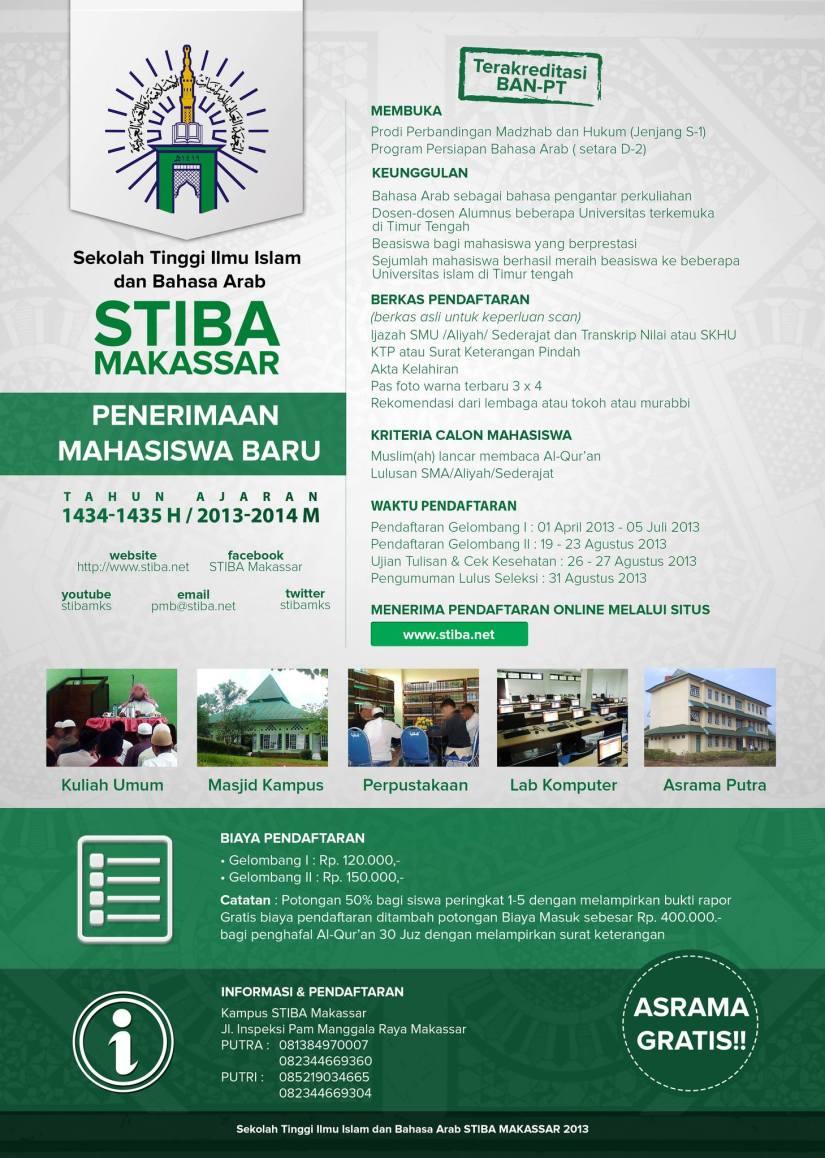 Pendaftara Mahasiswa Baru STIBA Makassar