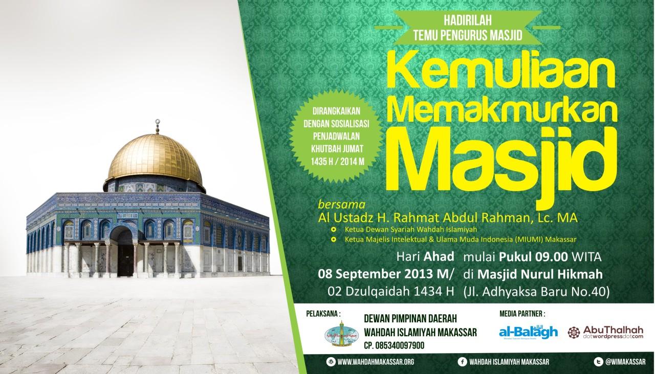 Temu Pengurus Masjid Binaan Kemuliaan Memakmurkan Masjid