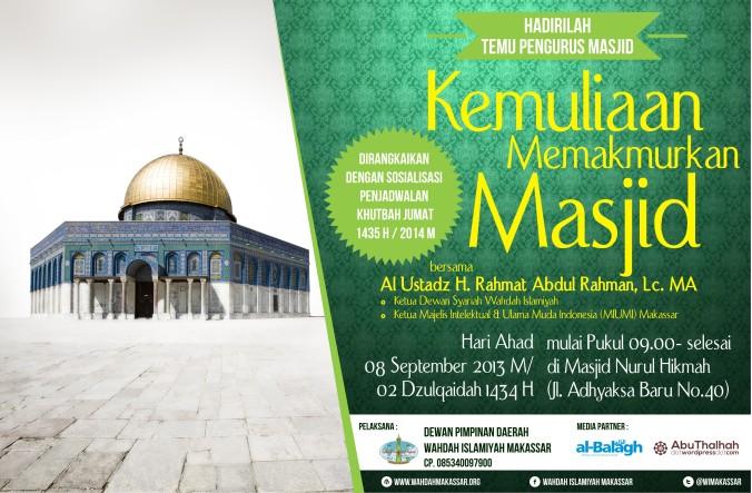 Temu Pengurus Masjid Binaan