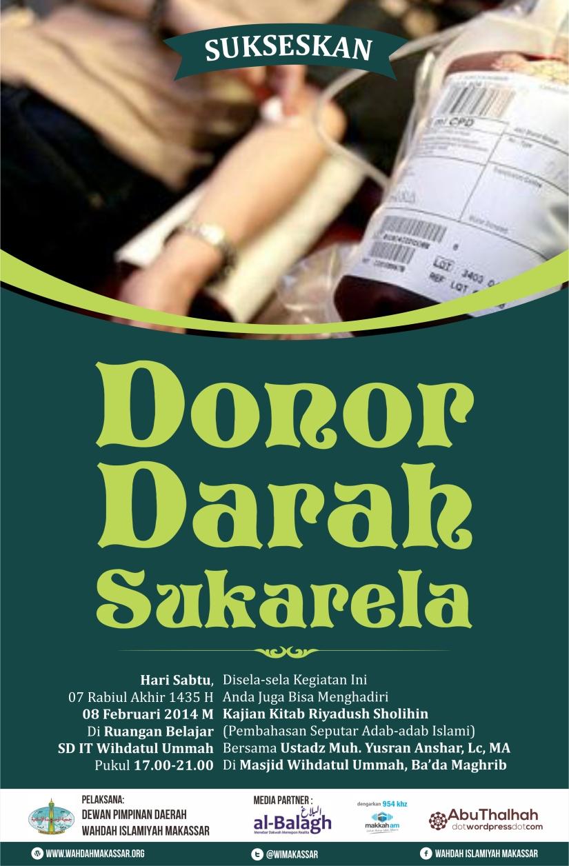 Pamplet Dono Darah edisi Rabiul Akhir 1435 H